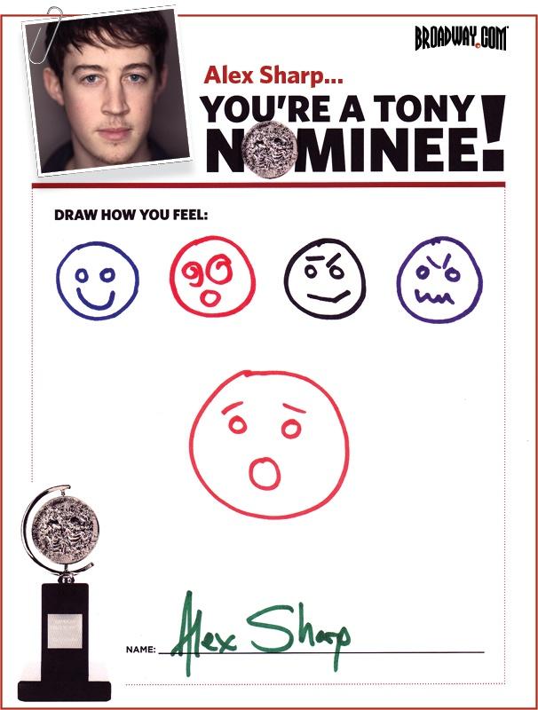 Tony Nominee Drawings – 2015 – Alex Sharp