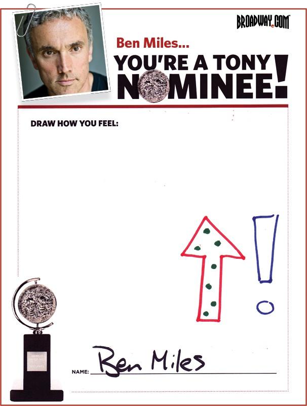 Tony Nominee Drawings – 2015 – Ben Miles