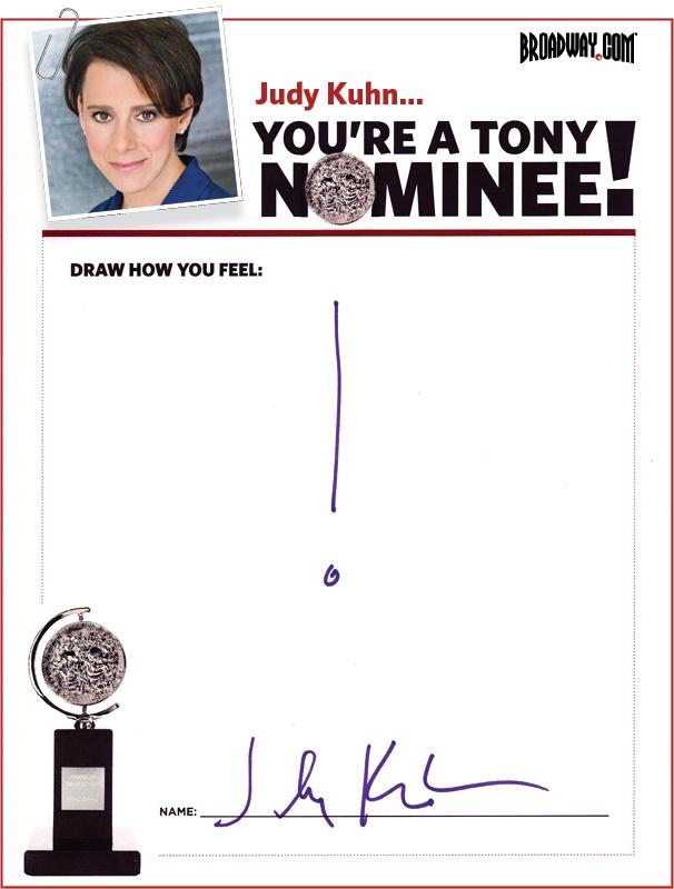 Tony Nominee Drawings – 2015 – Judy Kuhn