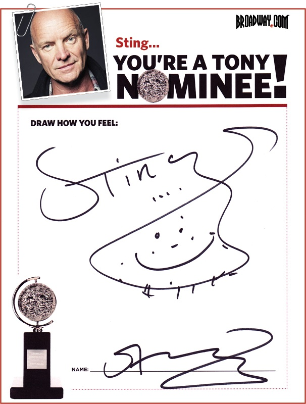 Tony Nominee Drawings – 2015 – Sting