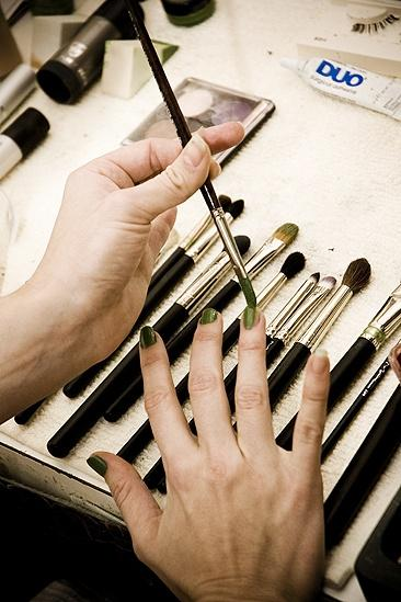 Nicole Parker Backstage at Wicked – nails