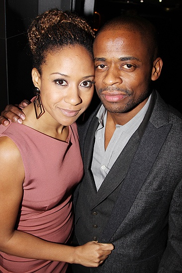 <i>Stick Fly</i> Opening Night – Tracie Thoms – Dulé Hill