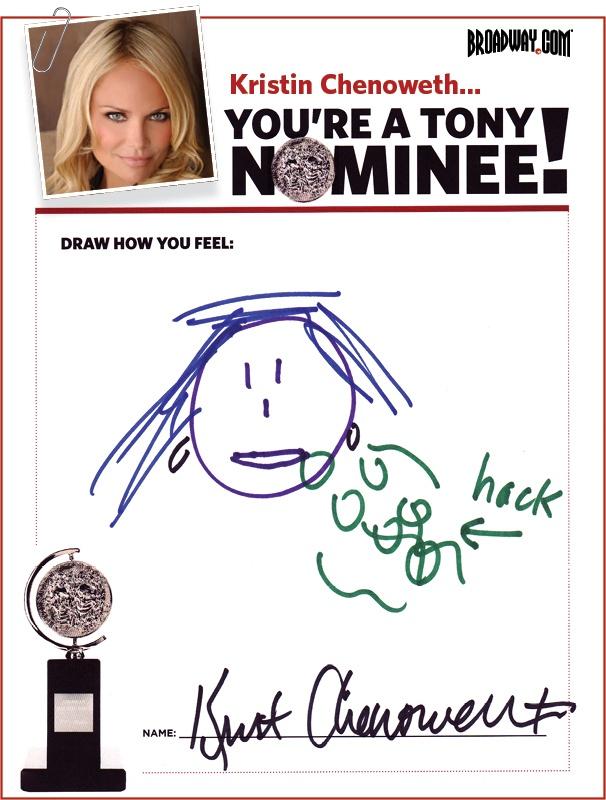 Tony Nominee Drawings – 2015 – Kristin Chenoweth