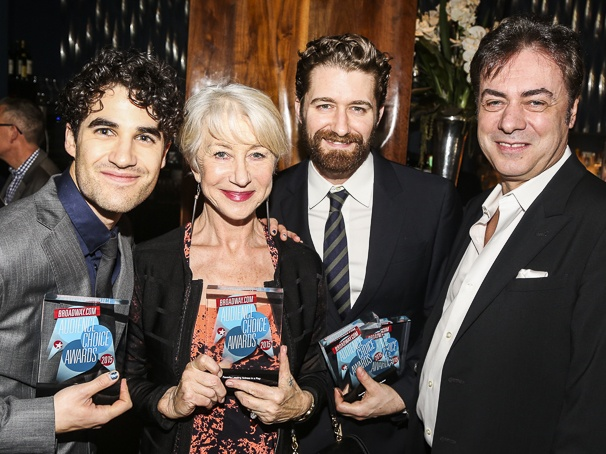 Broadway.com - Audience Choice Awards - 5/15 - Darren Criss - Helen Mirren - Matthew Morrison - John Gore