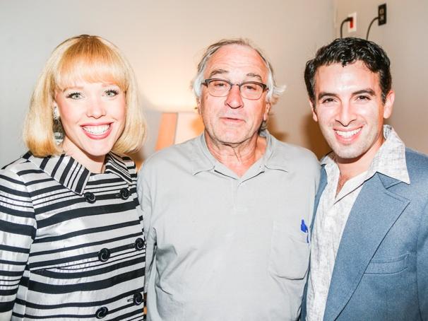 Beautiful: The Carole King Musical - backstage - Robert DeNiro -  - 9/15 - Robert DeNiro with Jessica Keenan Wynn and Jarrod Spector