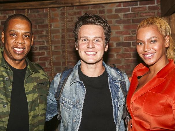 Hamilton - Backstage - 10/15 - Jay Z, Jonathan Groff and Beyonce