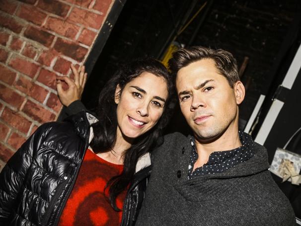 Hamilton - backstage - 10/15 - Sarah Silverman and Andrew Rannells