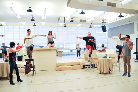 'First Date' Rehearsal — Krysta Rodriguez — Bryce Ryness — Kate Loprest — Blake Hammond — Sara Chase — Zachary Levi