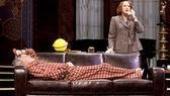 Victor Garber as Garry Essendine and Harriet Harris as Monica Reed in Present Laughter.