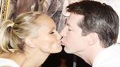 Kristin Chenoweth and Sean Hayes at Tony's Di Napoli – kiss