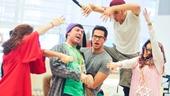 'First Date' Rehearsal — Kate Loprest — Kristoffer Cusick — Zachary Levi — Bryce Ryness — Sara Chase