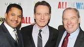 After the show, All the Way stars Brandon J. Dirden, Bryan Cranston and Michael McKean line up for a group shot.