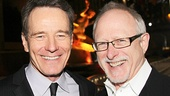 All the Way star Bryan Cranston and playwright Robert Schenkkan kick back after the show.