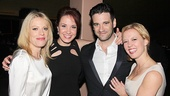 Talented performers Sherie Rene Scott, Sierra Boggess, Patti Murin and Colin Donnell make a pretty picture at the party.