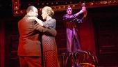 Danny Burstein as Herr Schultz, Linda Emond as Fraulein Schneider and Alan Cumming as Emcee in Cabaret