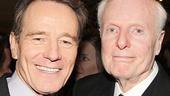 All the Way co-stars Bryan Cranston and John McMartin take a snapshot.