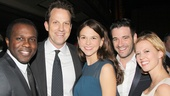Joshua Henry, Sutton Foster and her fiance Tim, Patti Murin and Colin Donnell take a snapshot.