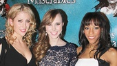 Les Miserables stars Caissie Levy, Samantha Hill and Nikki M. James look gorgeous on opening night.