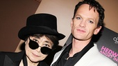 """Neil Patrick Harris, who gives Yoko Ono a shout-out every night in the Hedwig song """"Midnight Radio,"""" meets her in person!"""