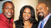 Joshua Henry (Violet), Audra McDonald (Lady Day) and James Monroe Iglehart (Aladdin) take a starry snapshot.
