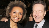 Tony winner Leslie Uggams and Bryan Cranston catch up after the performance.