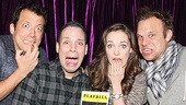 John Tartaglia, Robin De Jesus, Laura Osnes and Norbert Leo Butz are obviously psyched (and a little scared) to see Disaster!