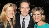Breaking Bad executive producer Michelle MacLaren and journalist Ashleigh Banfield hang out with Bryan Cranston.