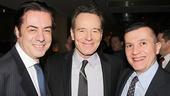 Key Brand Entertainment CEO John Gore and Broadway  Carey Ramos flank All the Way star Bryan Cranston.