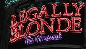 Legally Blonde London opening – marquee