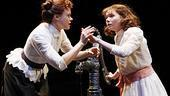 Alison Pill as Annie Sullivan and Abigail Breslin as Helen Keller in The Miracle Worker.