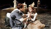 Alison Pill as Annie Sullivan and Abigail Breslin as Helen Keller and cast in The Miracle Worker.