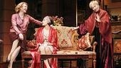 Jan Maxwell as Julie Cavendish, Kelli Barrett as Gwen Cavendish and Rosemary Harris as Fanny Cavendish in The Royal Family.