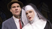 Jonathan Walker as Jeremy and Charles Busch as Mother Superior in The Divine Sister.