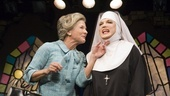 Jennifer Van Dyck as Mrs. Levinson and Charles Busch as Mother Superior in The Divine Sister.
