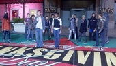 Memphis at Macy's Thanksgiving Day Parade – Chad Kimball – Montego Glover (rehearsal)