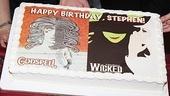 Stephen Schwartz's Birthday with Wicked and Godspell -  cake