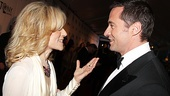 Before winning awards for Best Featured Actress in a Play and a Special Tony Award, respectively, Judith Light (Other Desert Cities) and Hugh Jackman catch up on the red carpet.