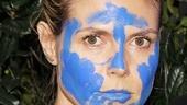 Blue Man Group – Heidi Klum Visit – Blue Men -  Heidi Klum
