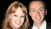 The lovely Kate Baldwin grabs a photo op with her dashing Big Fish composer, Tony nominee Andrew Lippa, at the star-studded gala.
