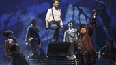 Matthew Morrison as J.M. Barrie, Kelsey Grammer as Captain Hook and the cast of Finding Neverland