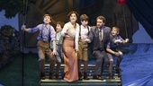 Sawyer Nunes, Alex Dreier, Laura Michelle Kelly as Sylvia Llewelyn Davis, Aidan Gemme, Matthew Morrison as J.M. Barrie, and Christopher Paul Richards in Finding Neverland