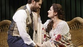 Matthew Morrison as J.M. Barrie &  Laura Michelle Kelly as Sylvia Llewelyn Davis in Finding Neverland