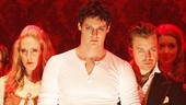 Benjamin Walker as Andrew Jackson and cast in Bloody Bloody Andrew Jackson.