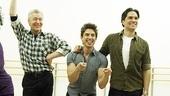 Priscilla rehearsal  - Tony Sheldon – Will Swenson – Nick Adams 4