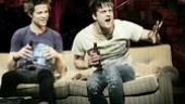 Justin Guarini as Will and Van Hughes as Johnny in American Idiot.