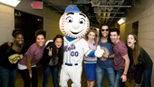 Hair Cast at Mets Game – group shot with Mr. Met
