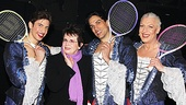 Priscilla Queen of the Desert- Nick Adams, Billie Jean King, Will Swenson and Tony Sheldon