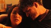 Zoë Winters as Bec and Gabriel Ebert as Leo in 4000 Miles.