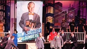Bloomberg and How to Succeed Cast – Michael Bloomberg – Nick Jonas (cast with book)