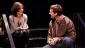 Susan Pourfar as Sylvia and Russell Harvard as Billy in Tribes.